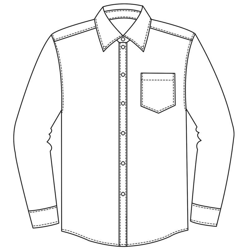 800x800 Men's Long Sleeve Button Down Dress Shirt