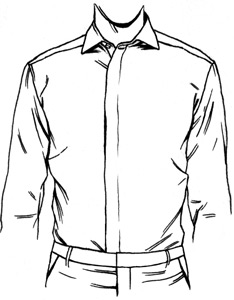 234x300 Dress Shirt Placket Types