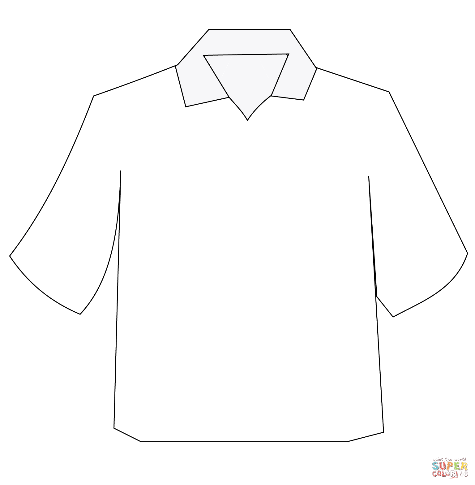 1536x1567 Polo Shirt Coloring Page Free Printable Coloring Pages