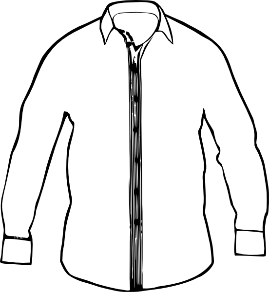 552x600 White Collared Shirt Clip Art