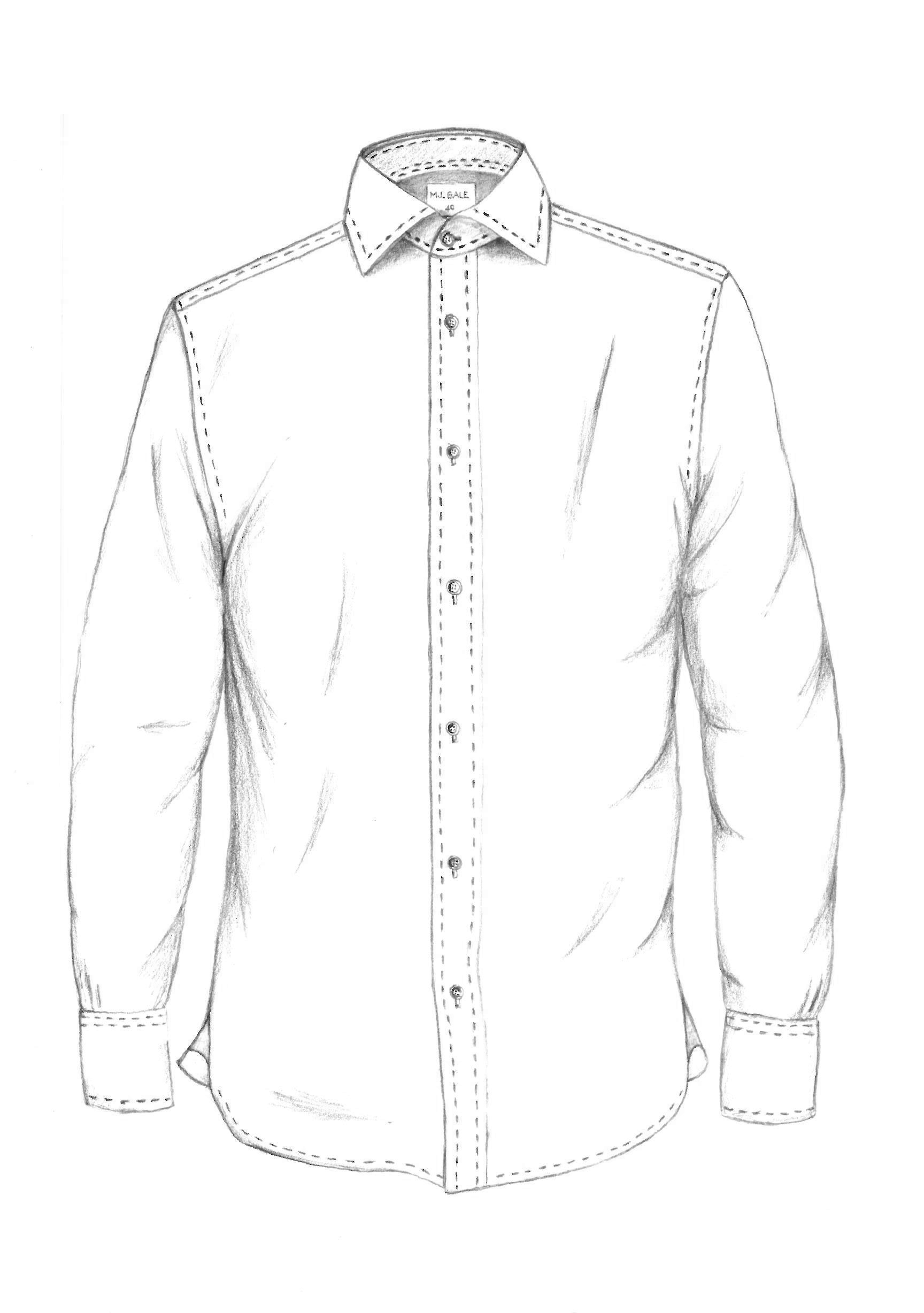 1728x2456 Button Up Collared Shirt Mj Bale Garment Sketches