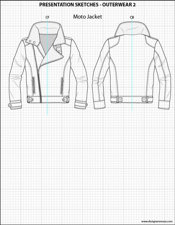 561x720 Men's Shirt Flat Sketches Sketches