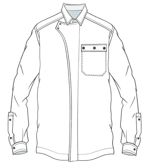 500x564 One Pocket Overshirt With Zip Wind Prove Enclosure Detail Dry
