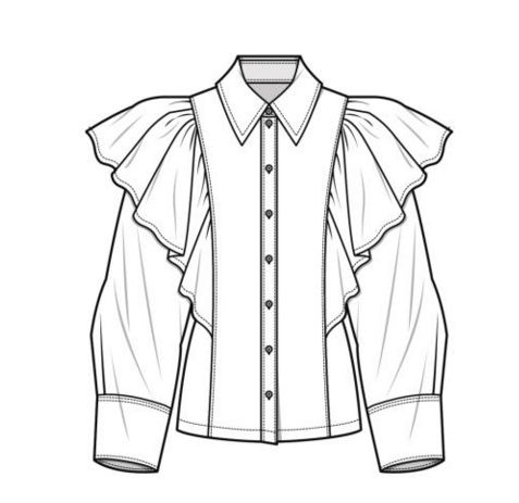 477x463 442 Best Fashion Technical Drawing Templates Images