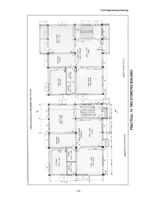 638x826 Civil Drawing Detail