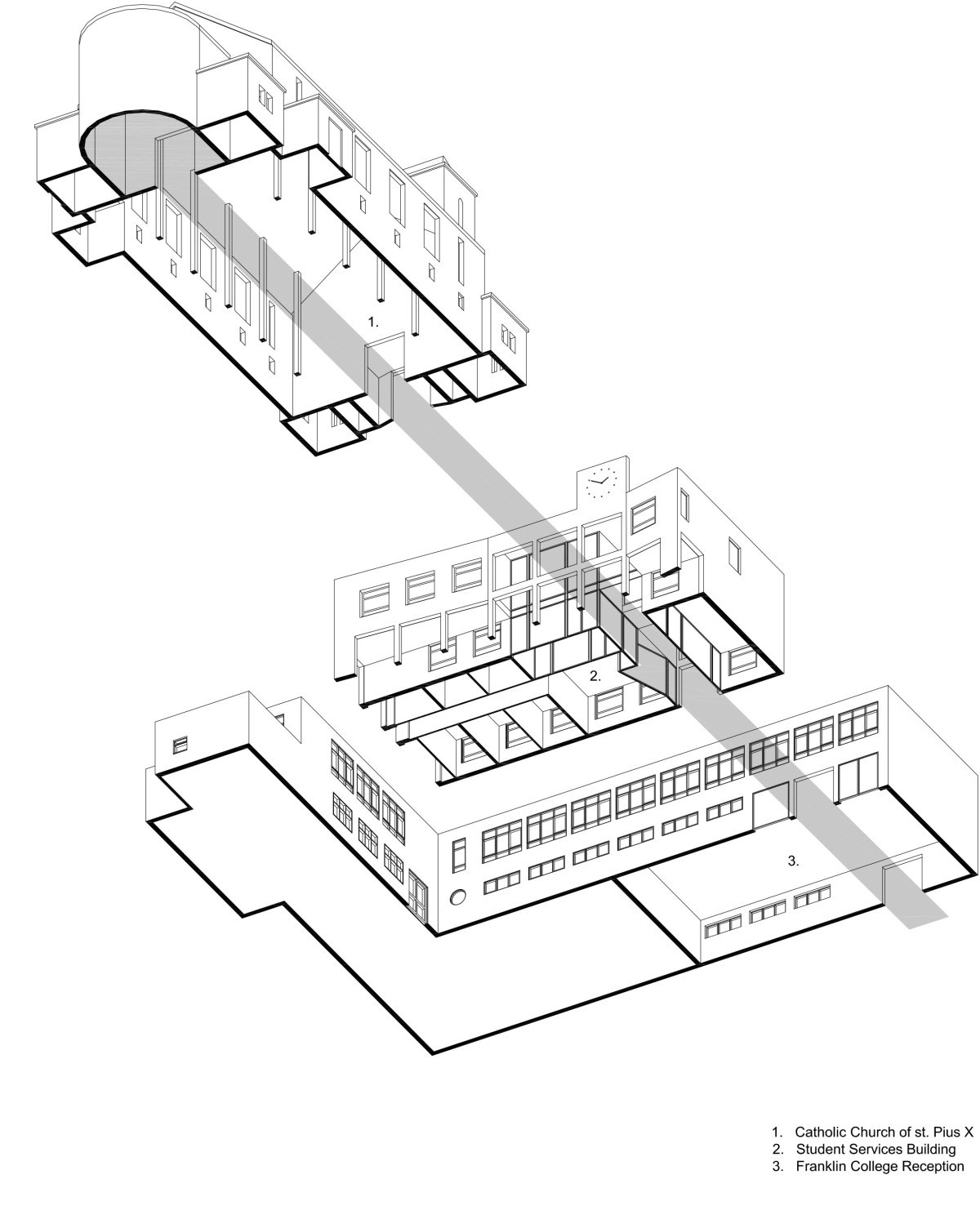 1200x1504 Courtyard Building, Franklin College Hodson Architects
