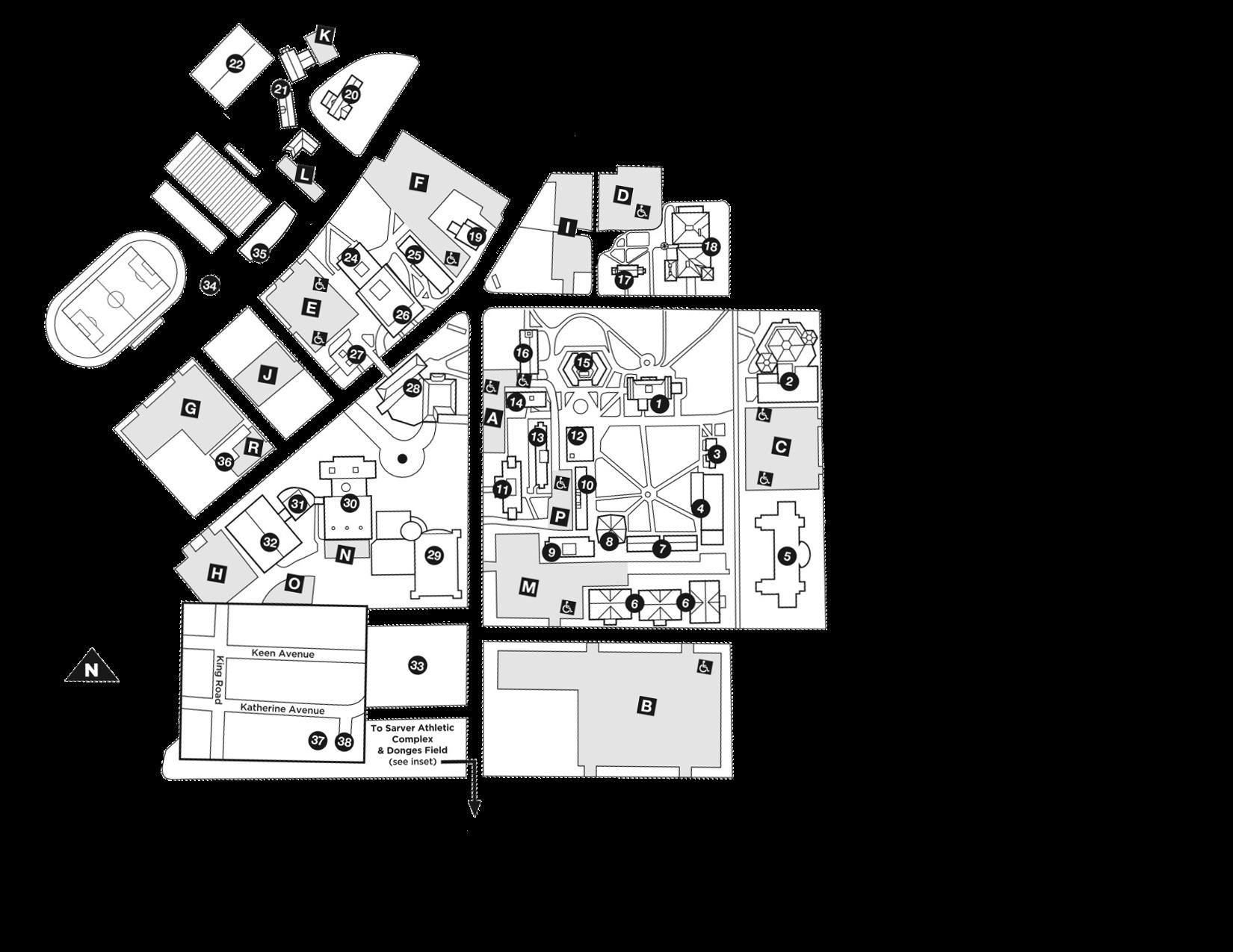 1650x1275 Main Campus Map Administration Ashland University