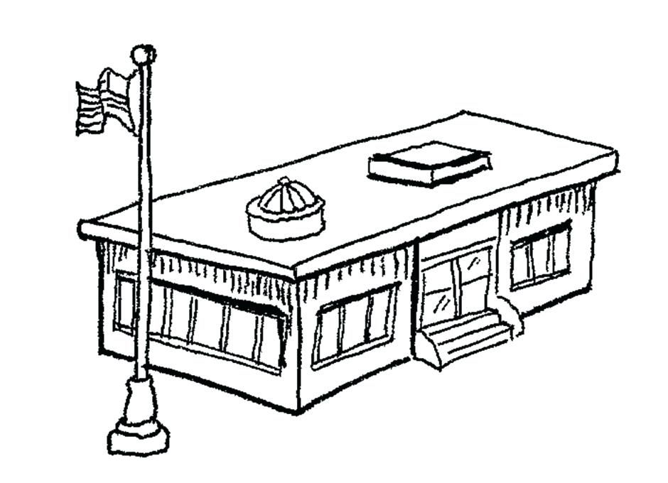 940x680 Building Coloring Pages Joandco.co