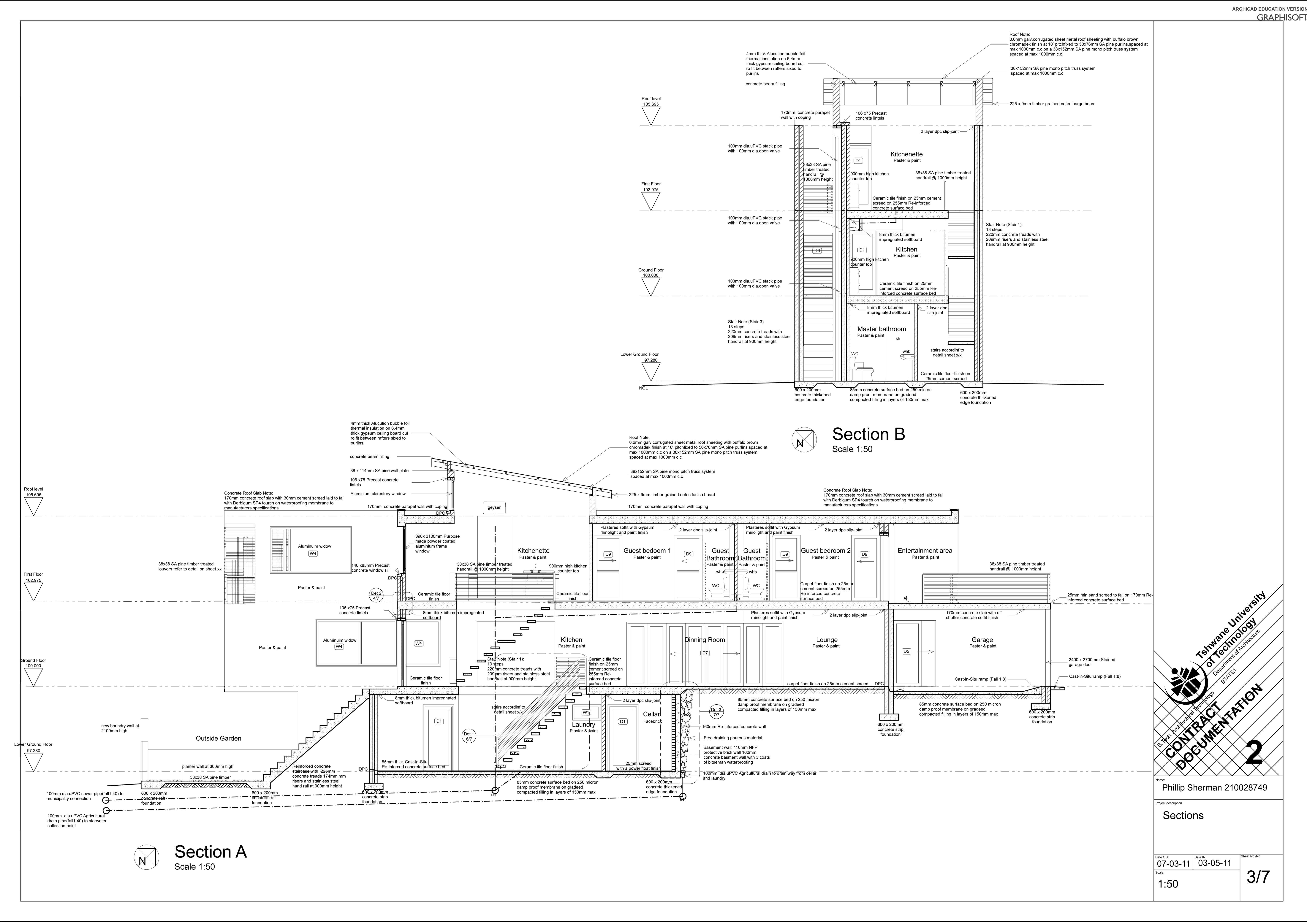 7016x4961 2nd Year Studio Of Architect Contract Documentation