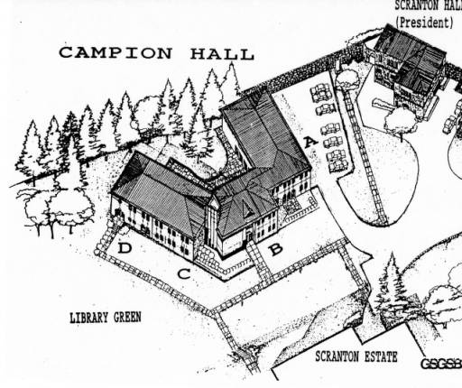 College Campus Drawing