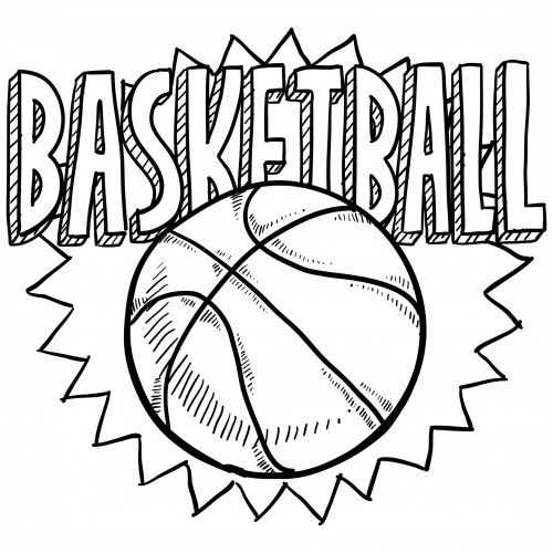 500x500 Launching College Basketball Coloring Pages Sports 2 Drawings