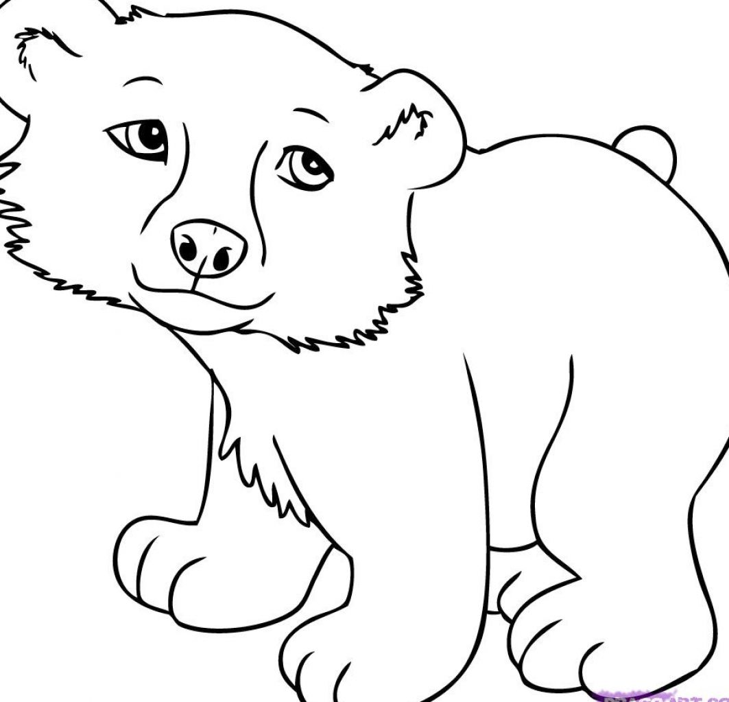 1063x1023 Cute Cartoon Animals Cute Cartoon Animals To Colour Pictures 2