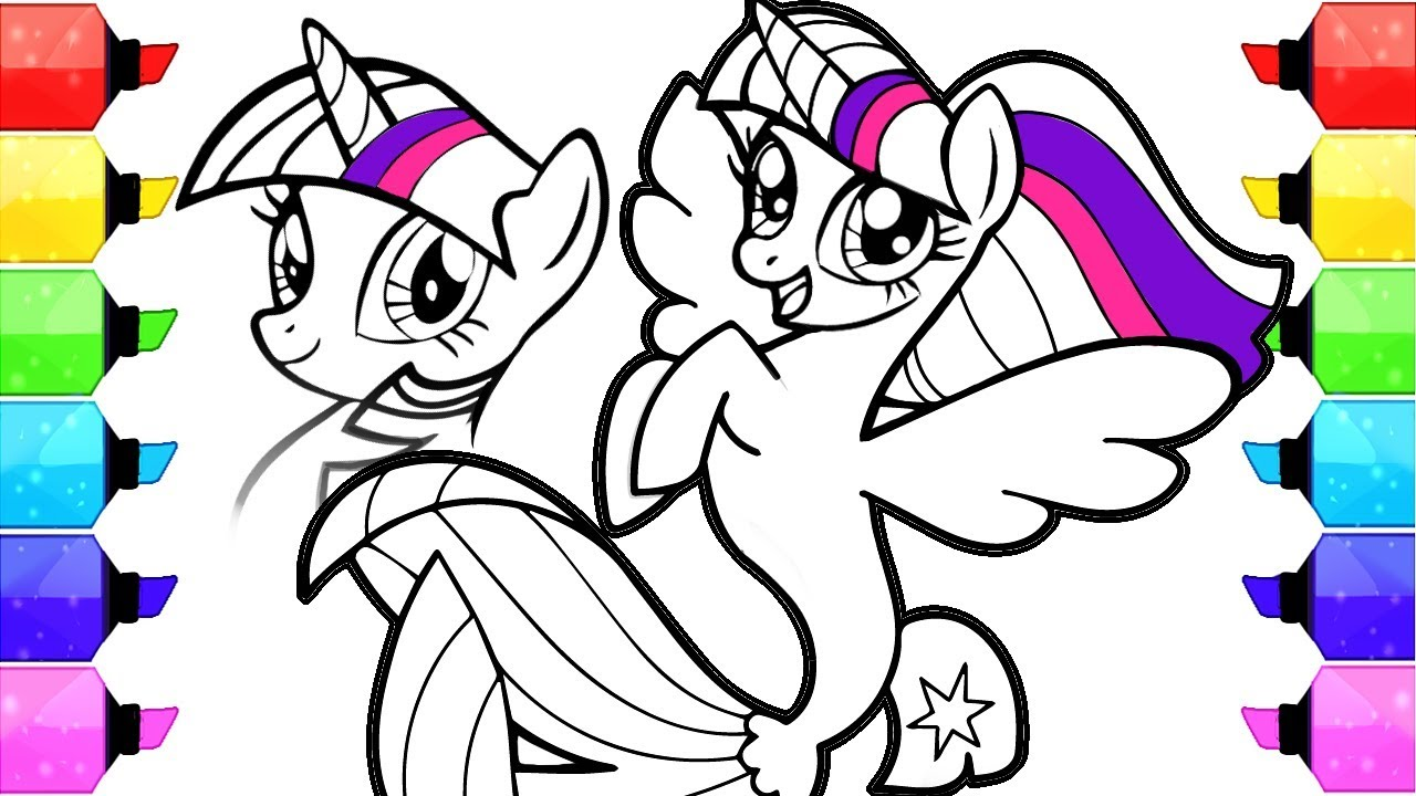1280x720 My Little Pony Coloring Book Pages How To Draw And Color My