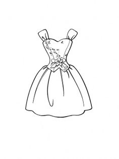 236x315 Ball Gown Coloring Page For Girls, Printable Free Coloring Pages