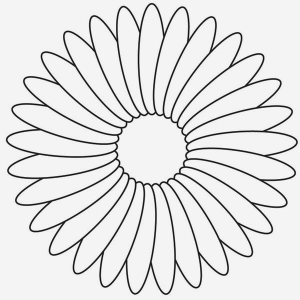 600x600 flowers color drawings many flowers - Flower Images To Color