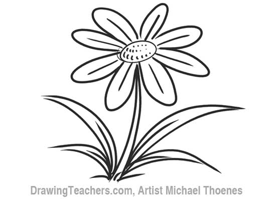 550x397 Cartoon Flower