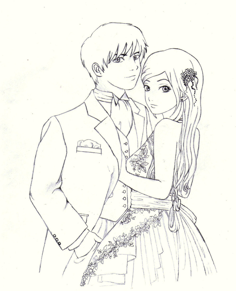 900x1111 Cute Couple Pencil Colored Sketches Cute Couple Color Pencil