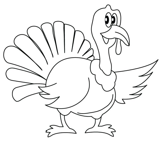 678x600 Printable Turkey Coloring Pages Turkey Drawing Coloring Pages
