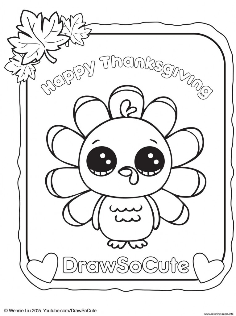 765x1024 Thanksgiving Turkey Draw So Cute Coloring Pages Printable For