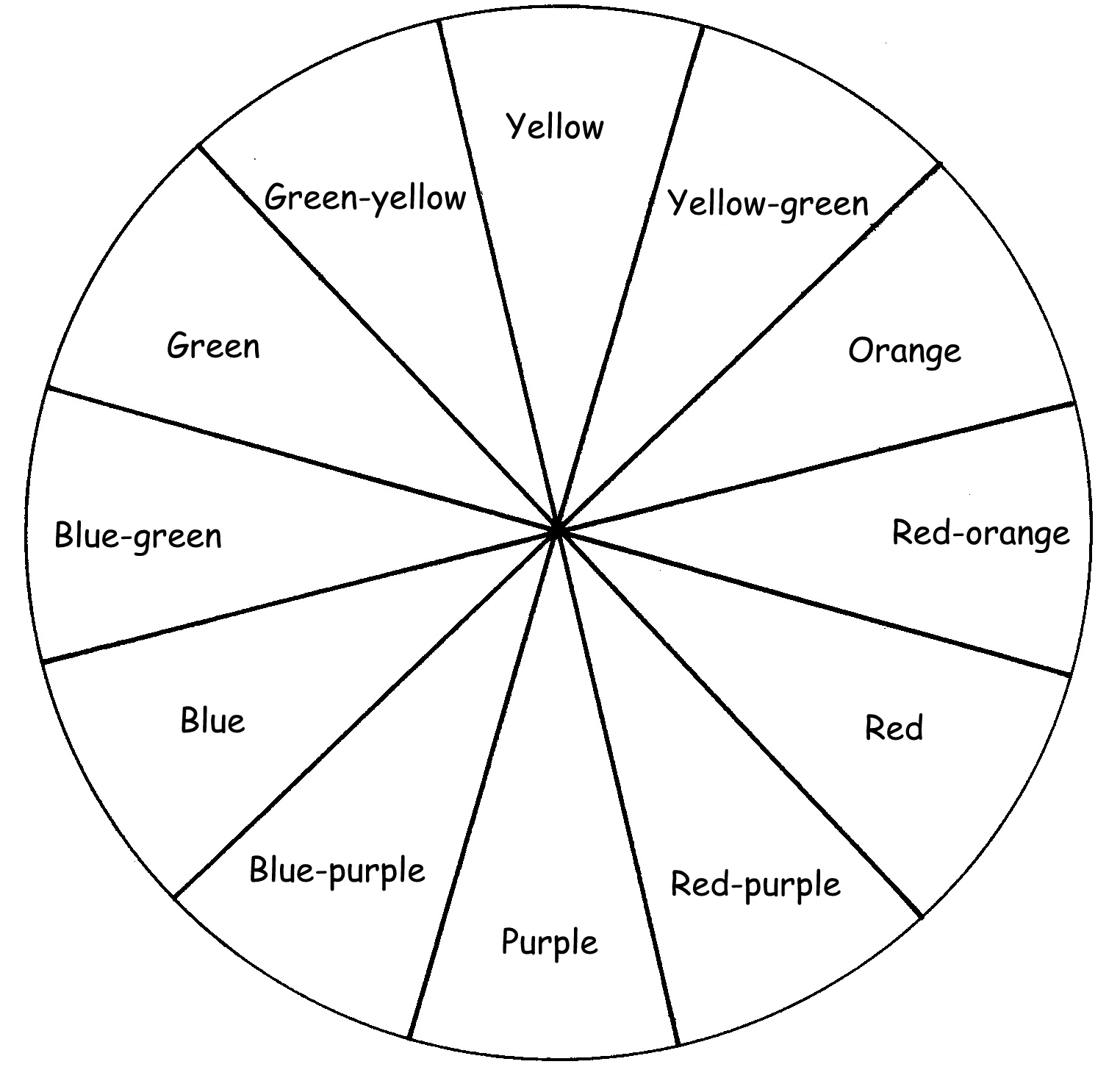 Color wheel drawing at free for personal for Wheel coloring page