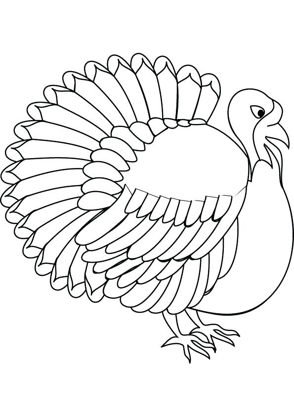 595x842 Turkey Images To Color Turkey Coloring Pages For Kids Turkey Color