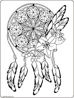 236x314 Dream Catcher Adult Coloring Page Adult Coloring, Dream Catchers