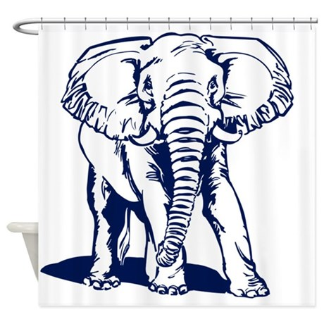 460x460 Cute Elephant Drawing Shower Curtains Cafepress