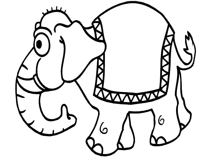 700x523 Elephant Template