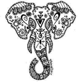 268x268 Elephant Wrasta Colors Tattoos Elephants