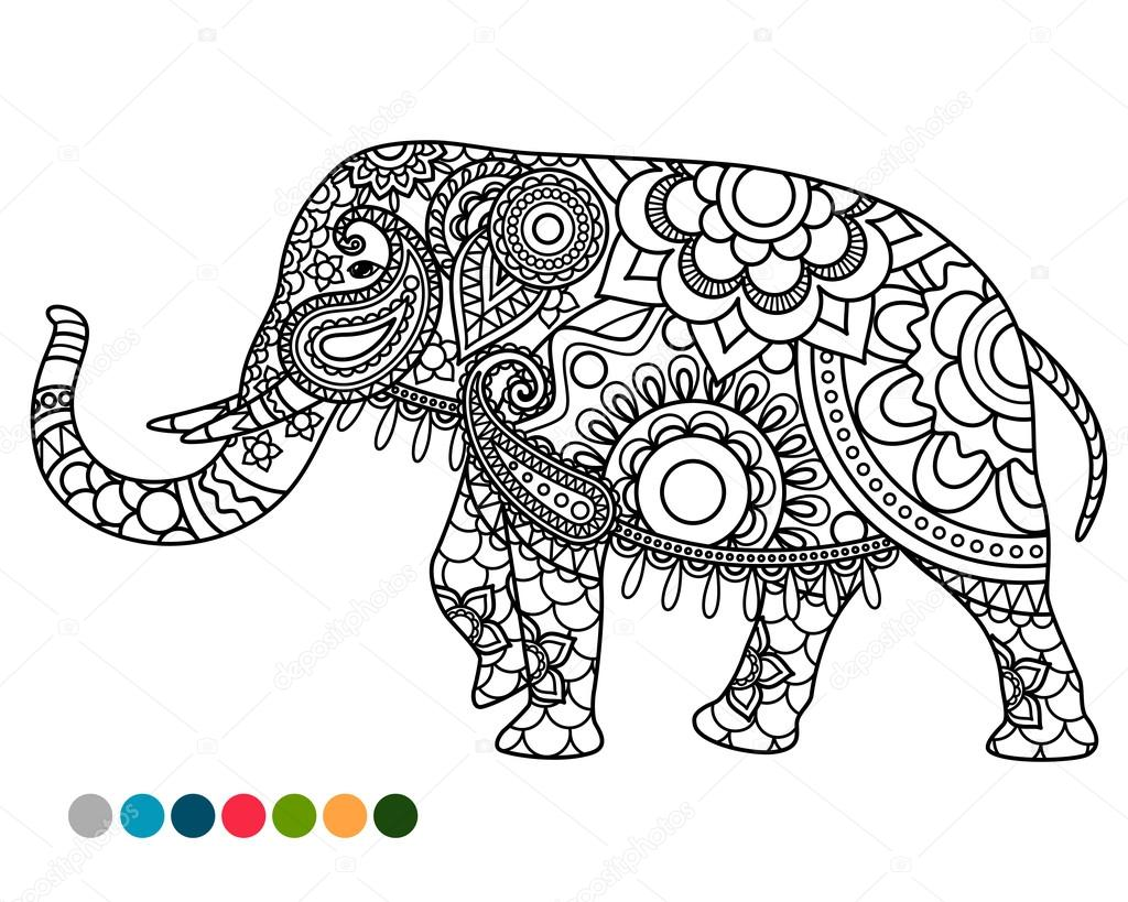 Colorful Elephant Drawing at GetDrawings.com | Free for personal use ...