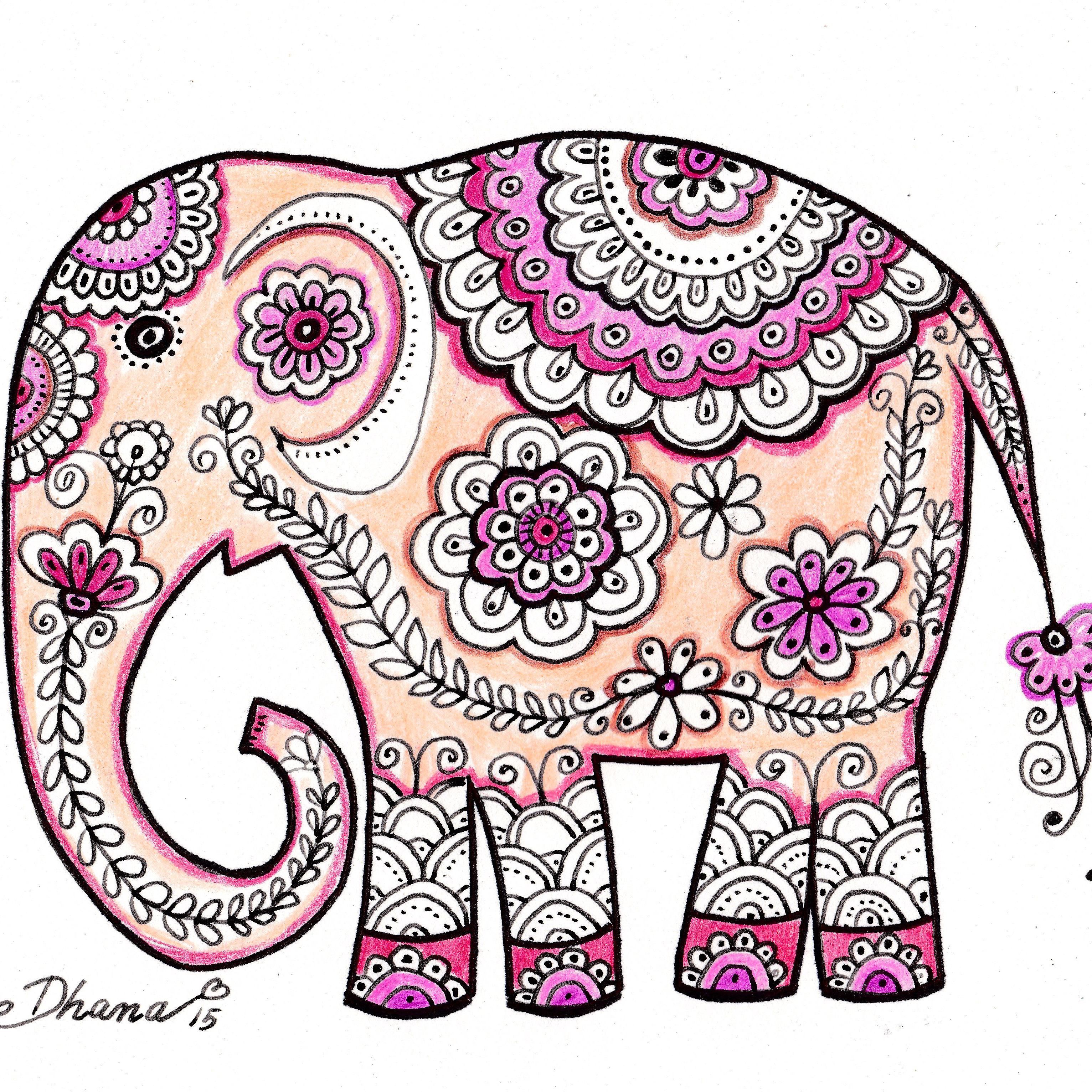 3064x3064 Watercolor Elephant Painting Nursery Kids Room Decor 3 Piece