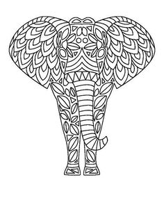 236x288 Coloring For Adults Elephants