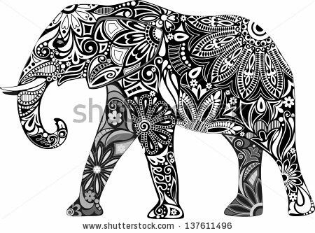 450x333 23 Best Tattoos Images On Colorful Elephant Tattoo