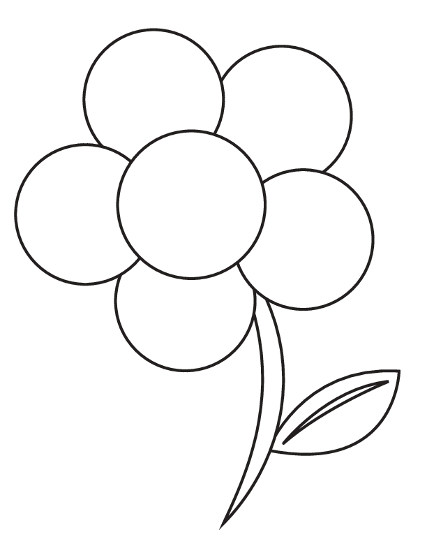 612x792 Flower To Color Trend Picture Of Flowers To Color For Kids Boo