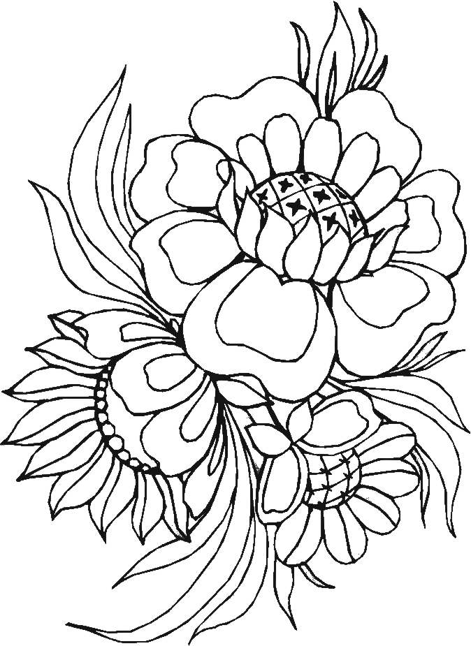 colorful flowers drawing at getdrawings  free download