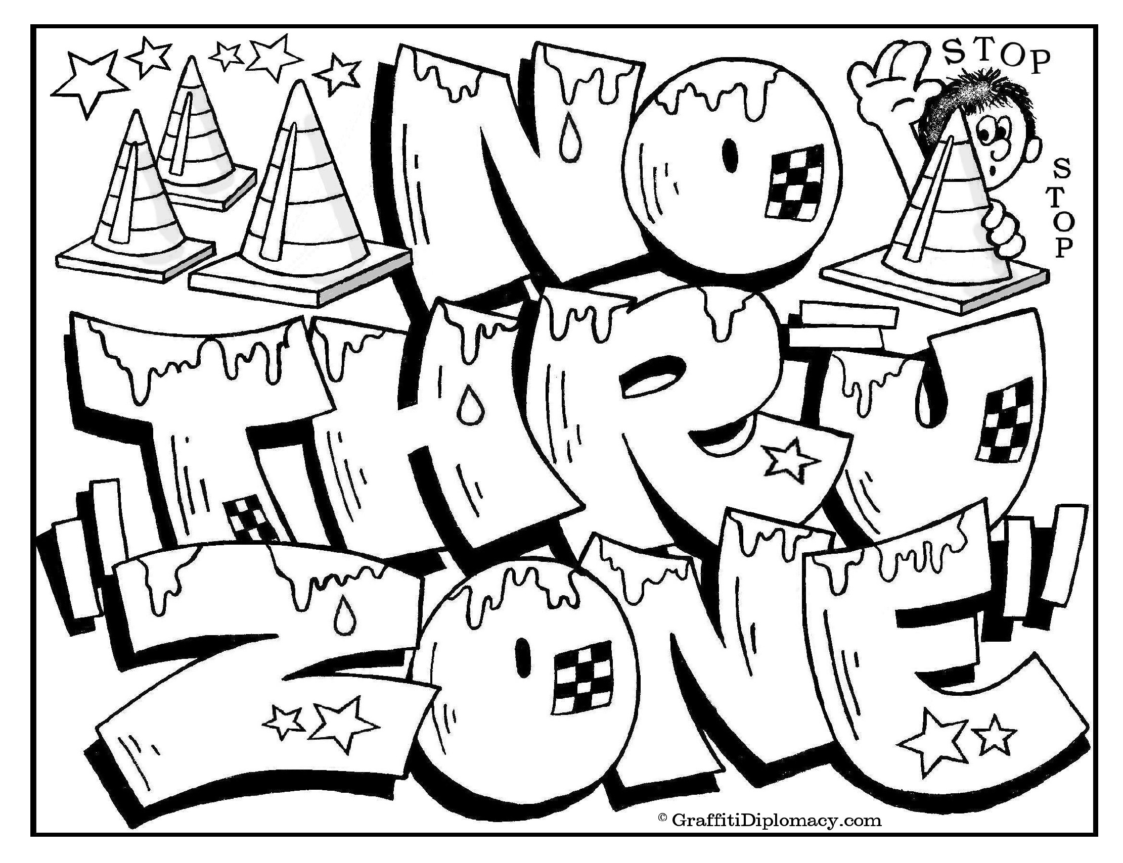 2221x1708 Graffiti Coloring Book Because Y's A Crooked Letter By Graffiti