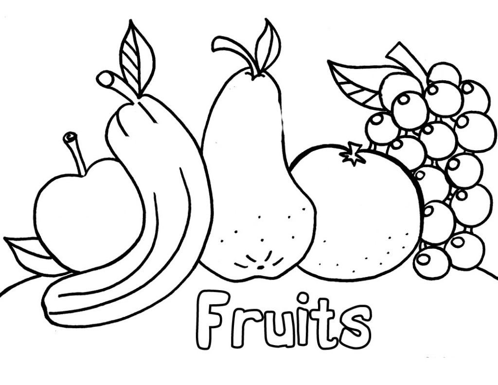 1024x792 Fruit Coloring Pages Printable
