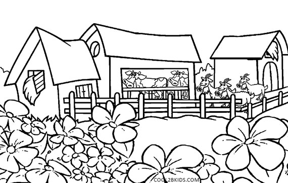 570x362 Printable Nature Coloring Pages For Kids Cool2bkids