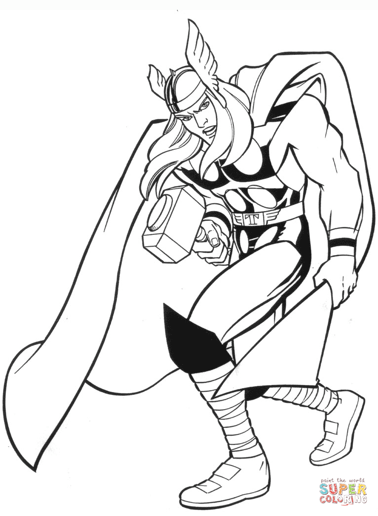766x1044 Marvel Thor Coloring Page Free Printable Coloring Pages