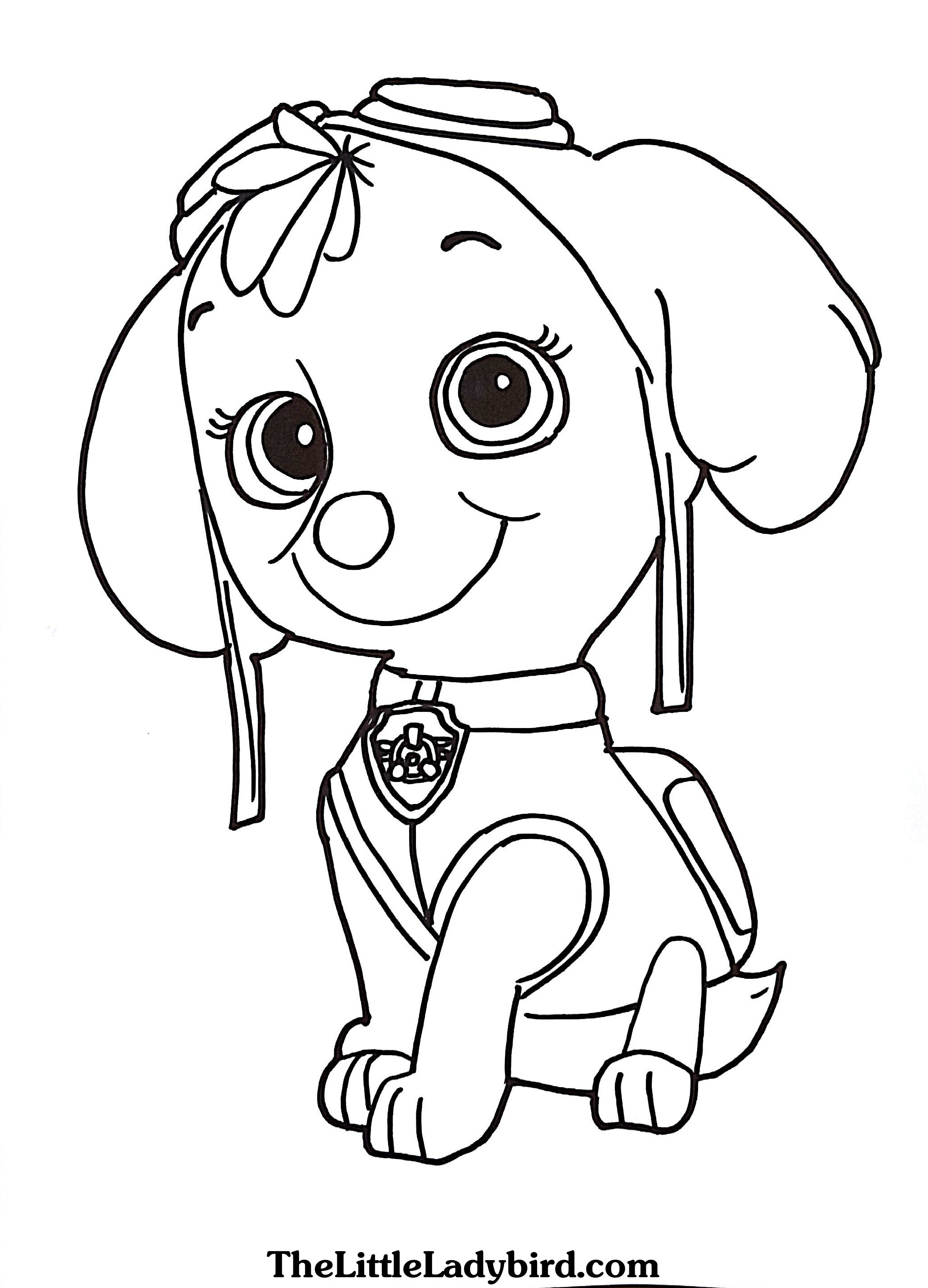 2066x2866 Paw Patrol Coloring Pages Skye Printable In Snazzy Draw Paint Page
