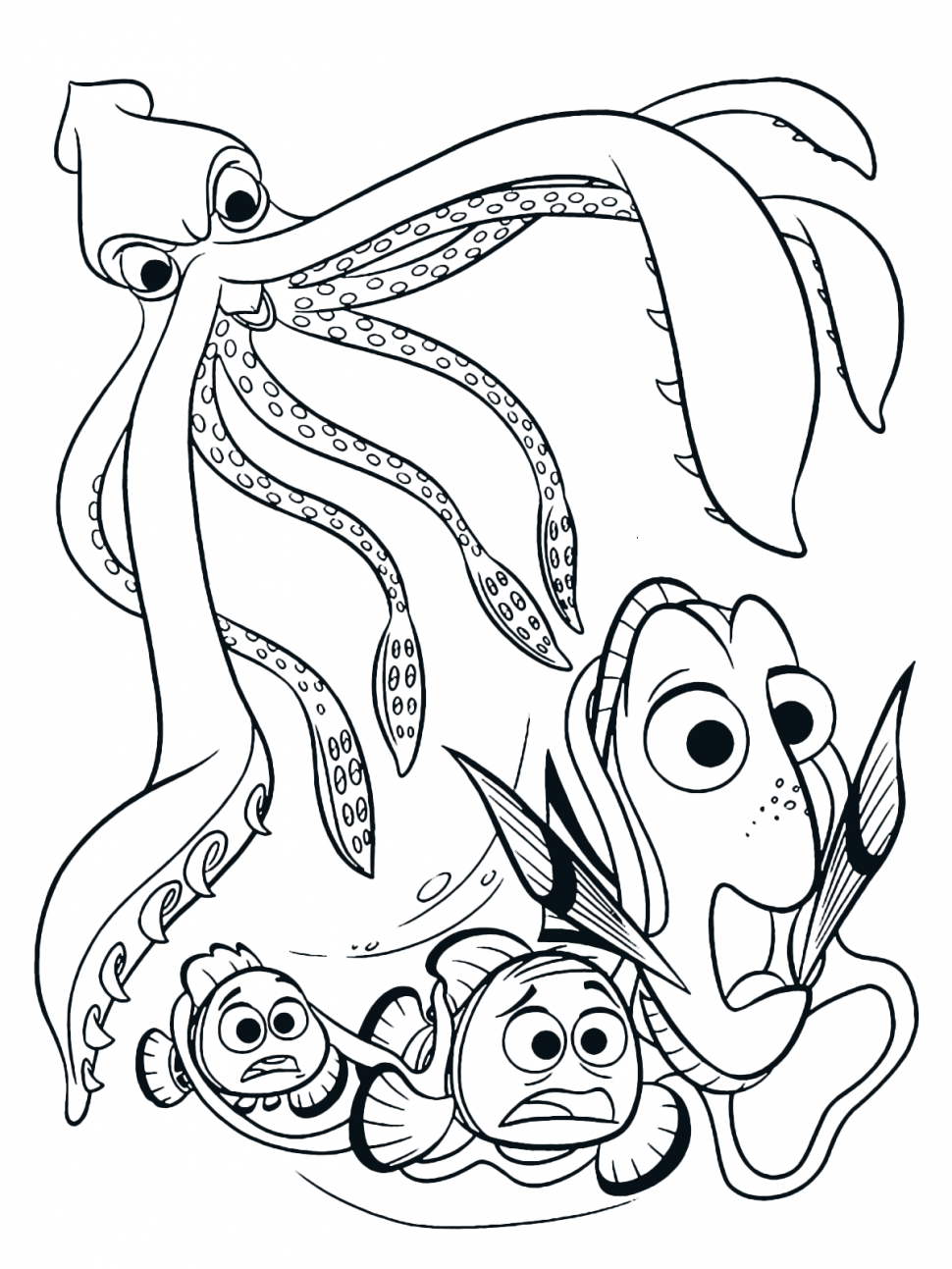 970x1293 Cool Squid Coloring Pages Contemporary