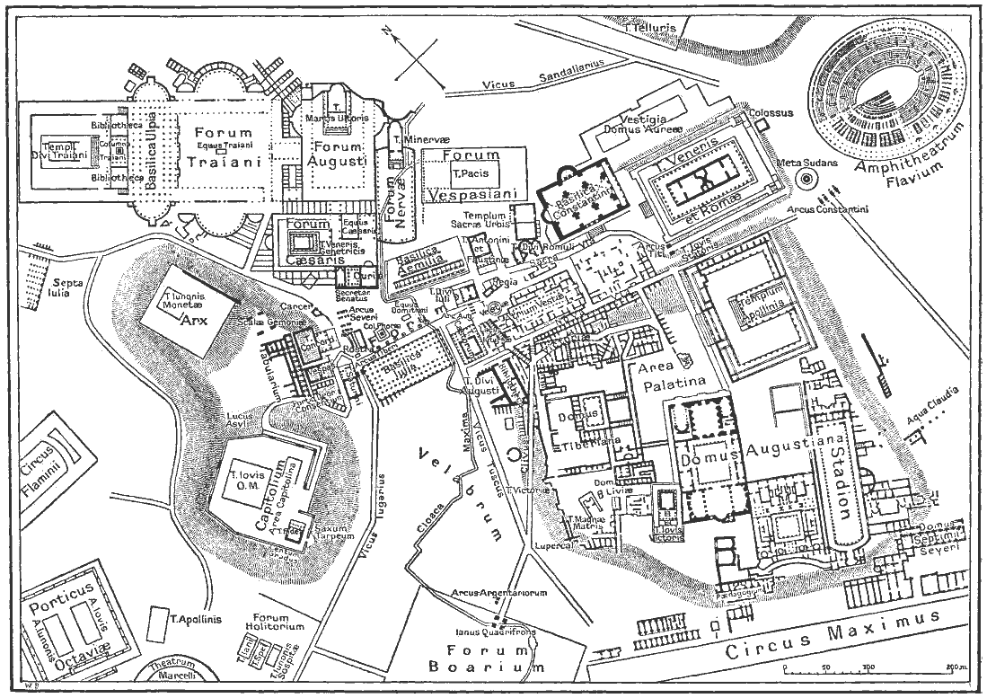 1099x777 Filemap Of Downtown Rome During The Roman Empire Large.png