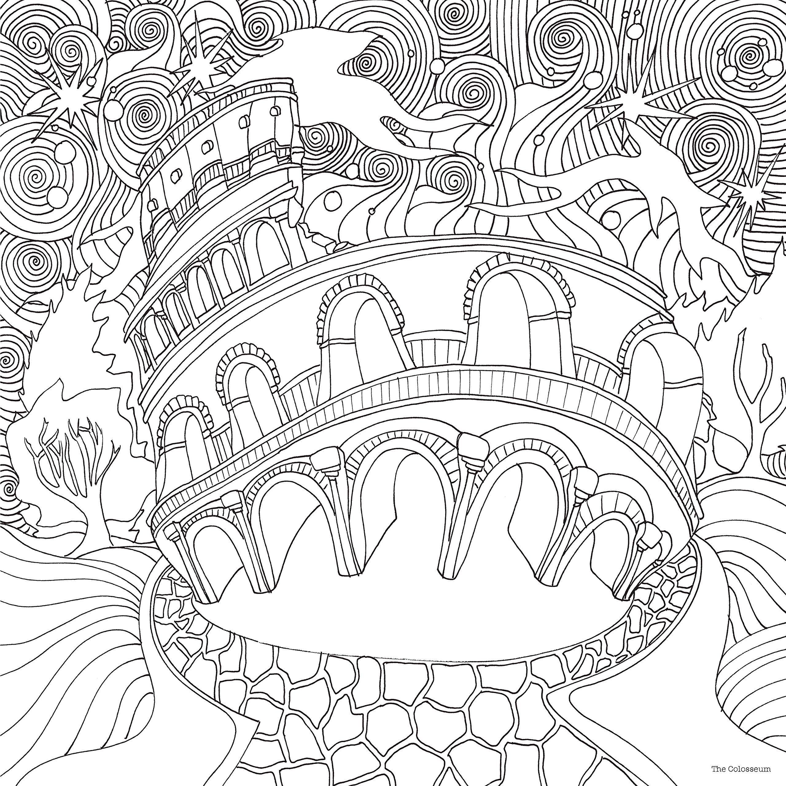 2560x2560 The Magical City A Colouring Book (Magical Colouring Books