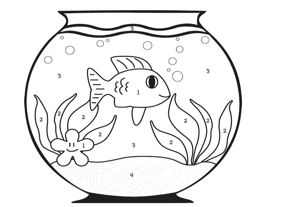 962x701 Best Fish Bowl Coloring Page Of Many Interesting Pages Colour