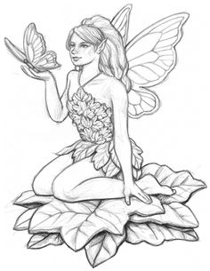 236x305 Line Art Drawings Of Fairies Fairy Pictures To Colour