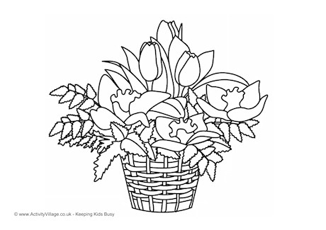 460x325 Flower Colouring Pages
