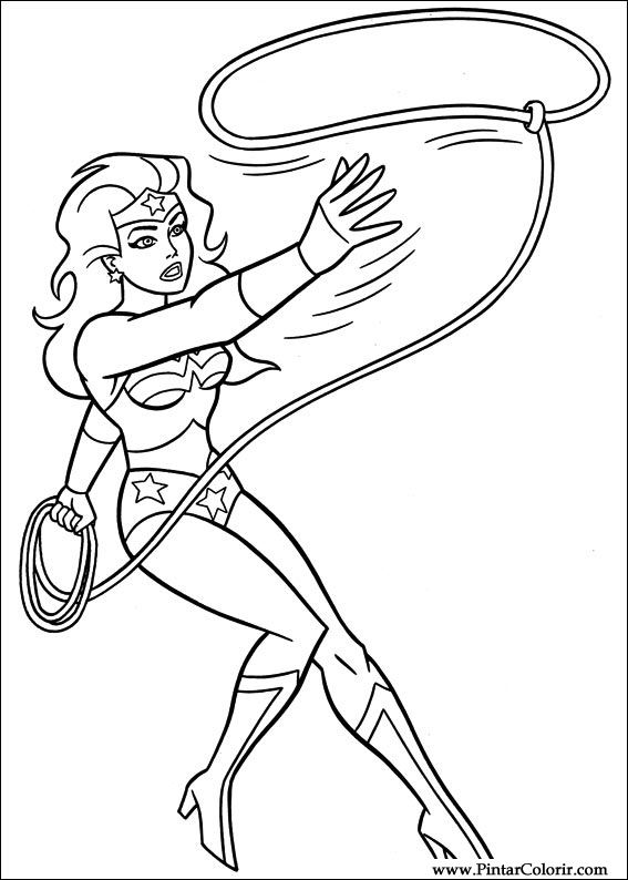 567x794 Drawings To Paint Amp Colour Wonder Woman