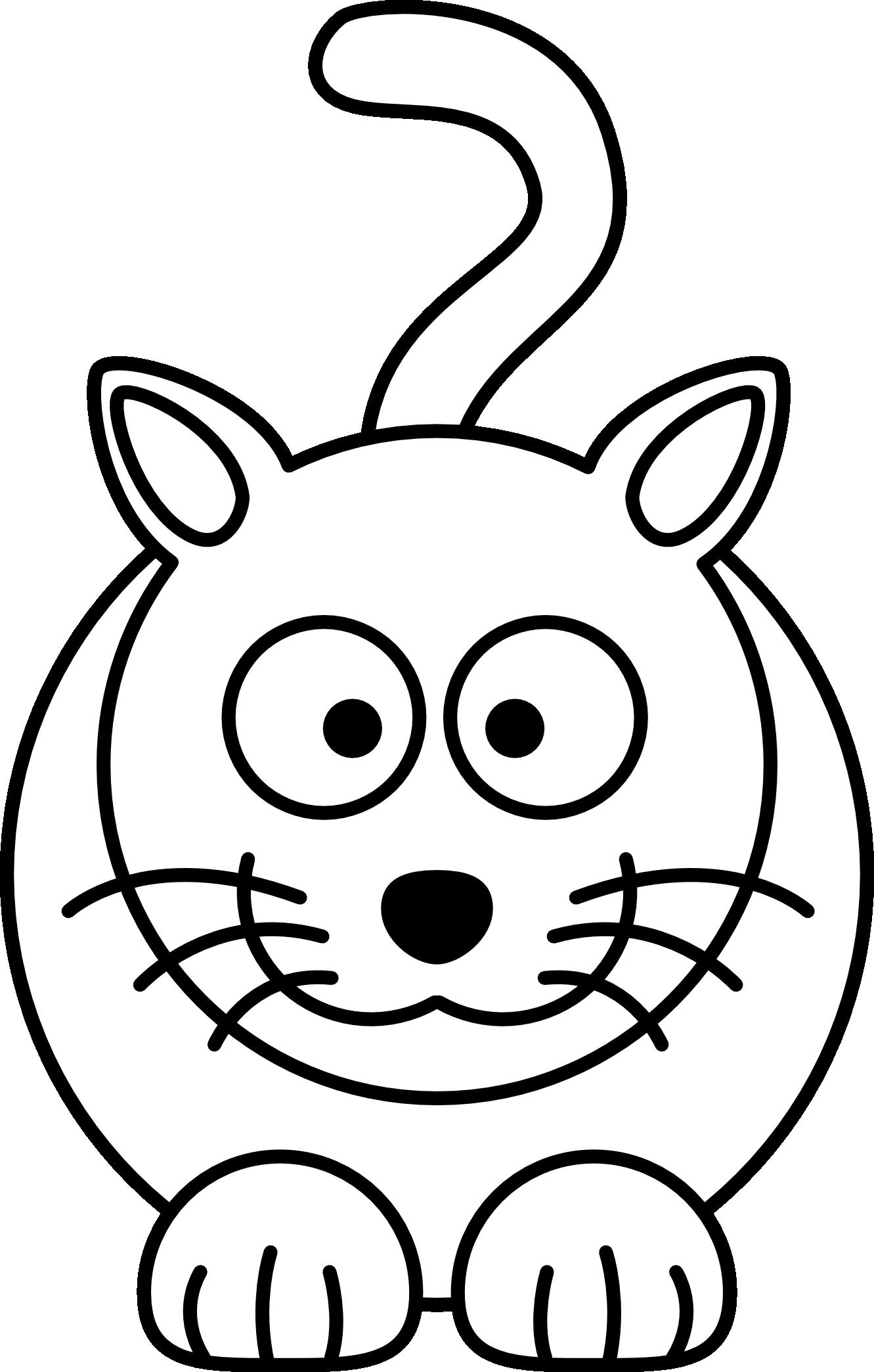 1331x2088 Lemmling Cartoon Cat Black White Line Art Coloring Book Colouring