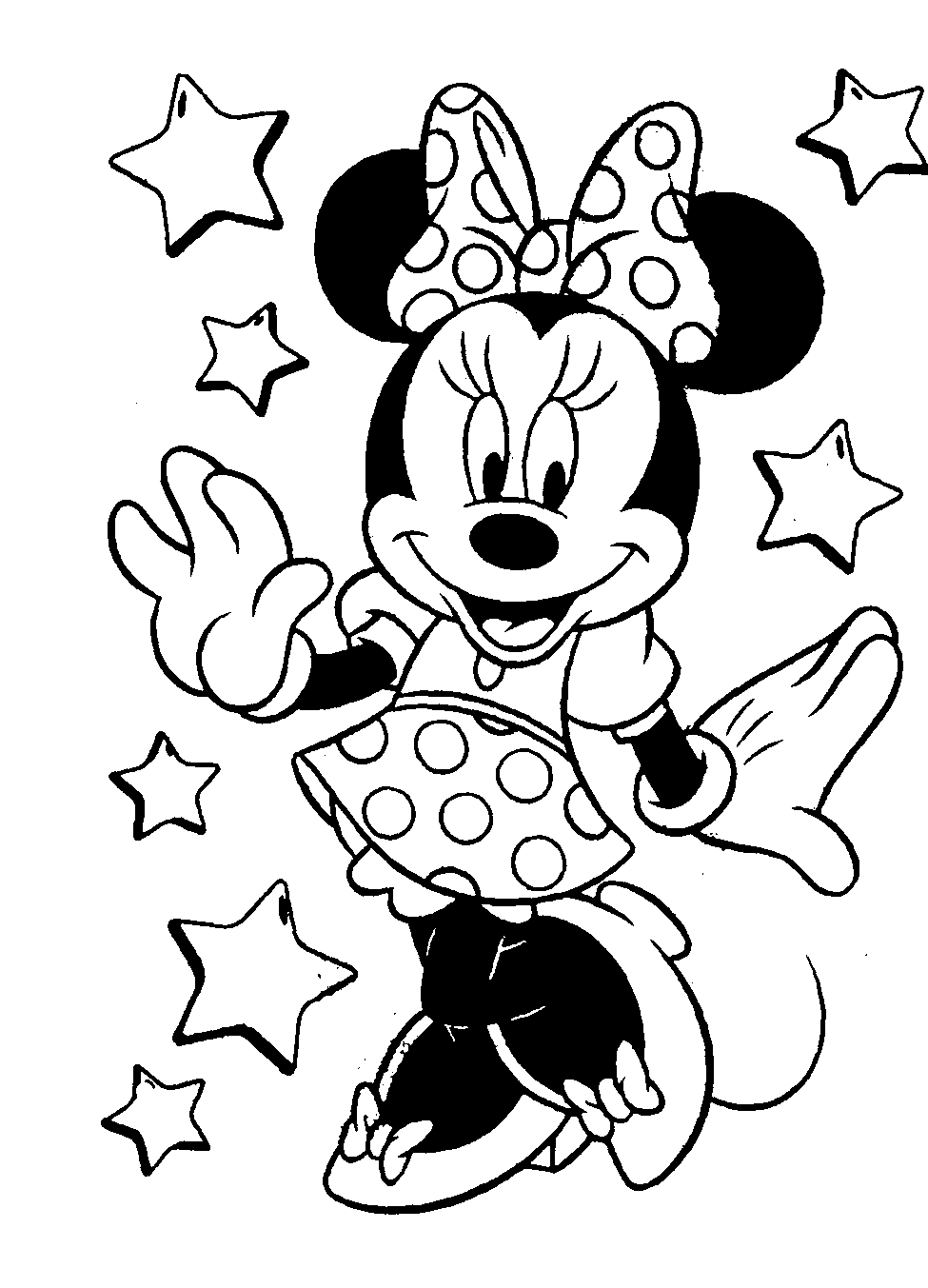 975x1353 mickey mouse and minnie mouse drawings colouring pages - Drawing Pictures For Colouring
