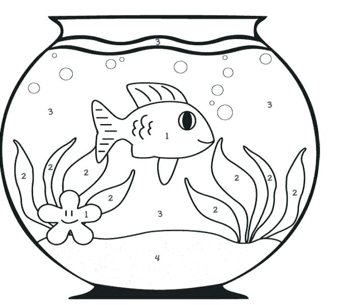 678x600 Goldfish Coloring Page